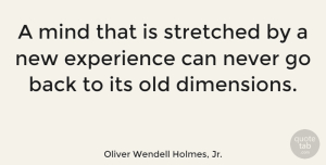 Wise Quotes, Oliver Wendell Holmes, Jr. Quote About Inspirational, Wise, Travel: A Mind That Is Stretched...