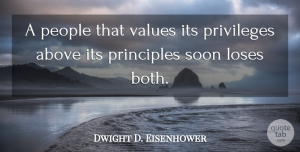 Witty Quotes, Dwight D. Eisenhower Quote About Success, Witty, Memorial Day: A People That Values Its...