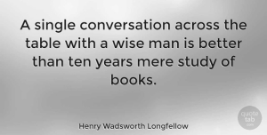 Wisdom Quotes, Henry Wadsworth Longfellow Quote About Positive, Wise, Wisdom: A Single Conversation Across The...