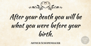Philosophical Quotes, Arthur Schopenhauer Quote About Death, Suicide, Philosophical: After Your Death You Will...