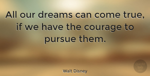 Motivational Quotes, Walt Disney Quote About Inspirational, Life, Motivational: All Our Dreams Can Come...