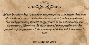 May Quotes, Leonardo da Vinci Quote About Past, Perception, May: All Our Knowledge Hast Its...