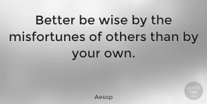 Wise Quotes, Aesop Quote About Inspirational, Motivational, Wise: Better Be Wise By The...