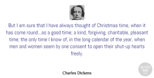 Christmas Quotes, Charles Dickens Quote About Christmas, Heart, Men: But I Am Sure That...