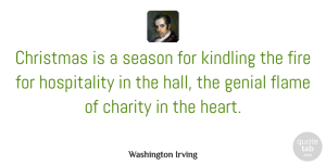 Christmas Quotes, Washington Irving Quote About Christmas, Thank You, Heart: Christmas Is A Season For...