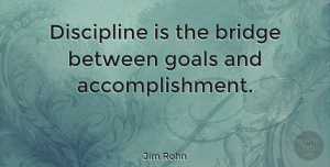 Motivational Quotes, Jim Rohn Quote About Inspirational, Life, Motivational: Discipline Is The Bridge Between...