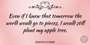 Hope Quotes, Martin Luther Quote About Faith, Hope, Wisdom: Even If I Knew That...