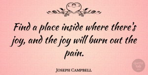 Joseph Campbell Quote About Inspirational, Life, Happiness: Find A Place Inside Where...