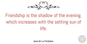 Birthday Quotes, Jean de La Fontaine Quote About Friendship, Birthday, Memories: Friendship Is The Shadow Of...