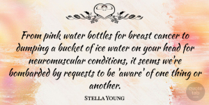 Bottles Quotes, Stella Young Quote About Bombarded, Bottles, Bucket, Head, Ice: From Pink Water Bottles For...