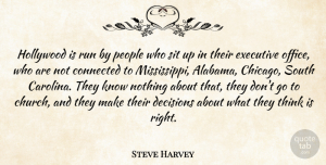 People Quotes, Steve Harvey Quote About Running, Thinking, People: Hollywood Is Run By People...