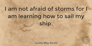 Wisdom Quotes, Louisa May Alcott Quote About Inspirational, Confidence, Wisdom: I Am Not Afraid Of...