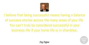 Zig Ziglar Quote About Motivational, Success, Business: I Believe That Being Successful...