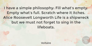 Witty Quotes, Voltaire Quote About Funny, Witty, Philosophy: I Have A Simple Philosophy...