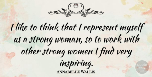 Annabelle Wallis Quote About Strong Women, Strong, Thinking: I Like To Think That...