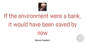 Bernie Sanders Quote About Environment, Ifs, Saved: If The Environment Were A...
