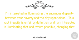 Changing Quotes, Nick McDonell Quote About Changing, Enormous, Inequity, Interested, Tiny: Im Interested In Illuminating The...