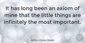 Wisdom Quotes, Arthur Conan Doyle Quote About Life, Wisdom, Past: It Has Long Been An...