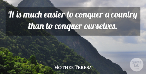 Faith Quotes, Mother Teresa Quote About Faith, Country, Inspiration: It Is Much Easier To...