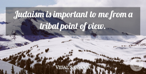 Views Quotes, Vidal Sassoon Quote About Views, Important, Judaism: Judaism Is Important To Me...