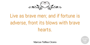 Philosophical Quotes, Marcus Tullius Cicero Quote About Courage, Philosophical, Heart: Live As Brave Men And...