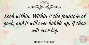 Philosophical Quotes, Marcus Aurelius Quote About Inspirational, Philosophical, Self Confidence: Look Within Within Is The...