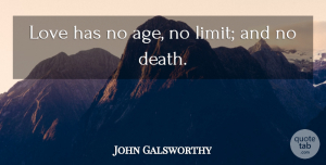 Birthday Quotes, John Galsworthy Quote About Love, Birthday, Age: Love Has No Age No...