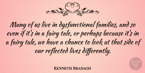 Kenneth Branagh Quote About Chance, Lives, Perhaps, Reflected: Many Of Us Live In...