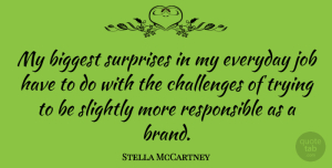 Stella McCartney Quote About Jobs, Challenges, Everyday: My Biggest Surprises In My...