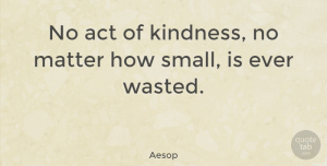 Aesop Quote About Inspirational, Life, Happiness: No Act Of Kindness No...