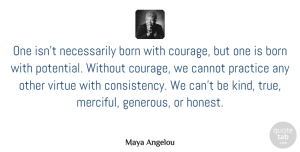 Maya Angelou Quote About Inspirational, Strength, Inspiring: One Isnt Necessarily Born With...