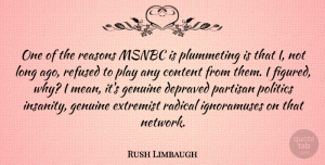 Rush Limbaugh Quote About Mean, Long Ago, Play: One Of The Reasons Msnbc...