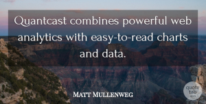 Matt Mullenweg Quote About Charts, Powerful, Web: Quantcast Combines Powerful Web Analytics...