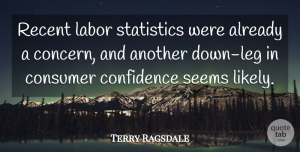 Terry Ragsdale Quote About Confidence, Consumer, Labor, Recent, Seems: Recent Labor Statistics Were Already...