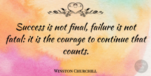 Winston Churchill Quote About Inspirational, Motivational, Positive: Success Is Not Final Failure...