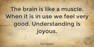 Wisdom Quotes, Carl Sagan Quote About Wisdom, Understanding, Brain: The Brain Is Like A...