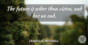 Future Quotes, Donald G. Mitchell Quote About American Musician, Future: The Future Is Wider Than...