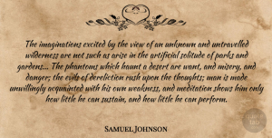 Views Quotes, Samuel Johnson Quote About Men, Garden, Views: The Imaginations Excited By The...