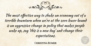 Aggressive Quotes, Christina Romer Quote About Aggressive, Bound, Change, Effective, Lower: The Most Effective Way To...
