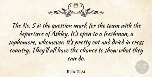 Rob Ulm Quote About Chance, Cross, Cut, Departure, Dried: The No 5 Is The...