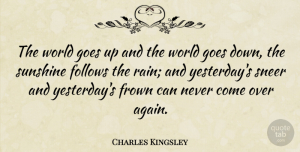 Travel Quotes, Charles Kingsley Quote About Change, Nature, Travel: The World Goes Up And...