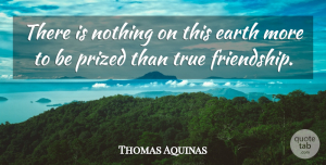 Thomas Aquinas Quote About Friendship, Relationship, True Friend: There Is Nothing On This...