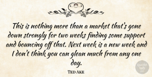 Ted Ake Quote About Bouncing, Finding, Gone, Market, Next: This Is Nothing More Than...
