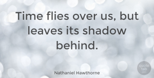 Time Quotes, Nathaniel Hawthorne Quote About Time, Shadow, Eternity: Time Flies Over Us But...