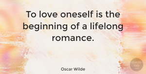 Life Quotes, Oscar Wilde Quote About Love, Life, Confidence: To Love Oneself Is The...