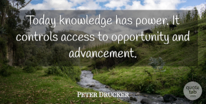 Wise Quotes, Peter Drucker Quote About Education, Wise, Knowledge: Today Knowledge Has Power It...