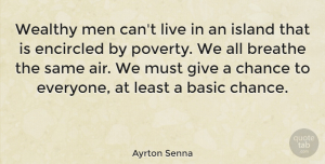 Men Quotes, Ayrton Senna Quote About Men, Air, Islands: Wealthy Men Cant Live In...