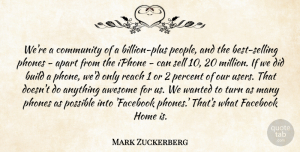 Awesome Quotes, Mark Zuckerberg Quote About Apart, Awesome, Build, Facebook, Home: Were A Community Of A...