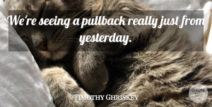 Timothy Ghriskey Quote About Seeing: Were Seeing A Pullback Really...