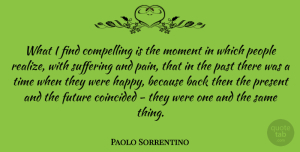 Future Quotes, Paolo Sorrentino Quote About Compelling, Future, Moment, Past, People: What I Find Compelling Is...